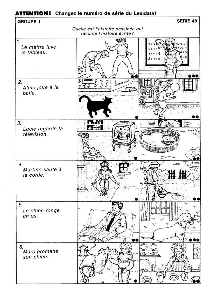 LX07 FRANÇAIS, discrimination auditive et visuelle ...